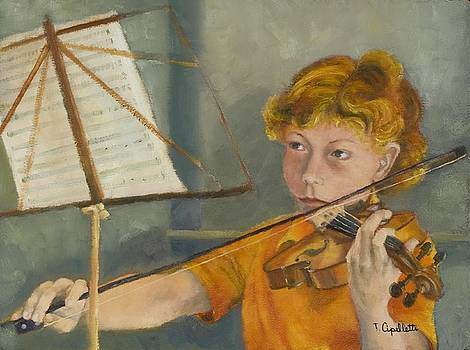Young Violonist by Terry Cipelletti