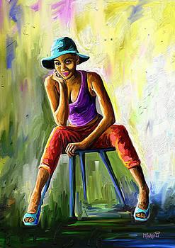 Young Woman by Anthony Mwangi