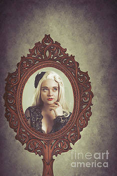 Young Woman In Mirror by Amanda Elwell