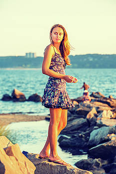 Alexander Image - Young Woman Waiting for You on Sunset