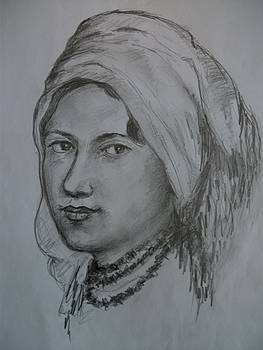 Young Woman With Headscarf by Covaliov Victor