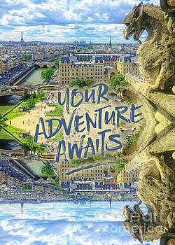 Beverly Claire Kaiya - Your Adventure Awaits Notre-Dame Cathedral Gargoyle Paris