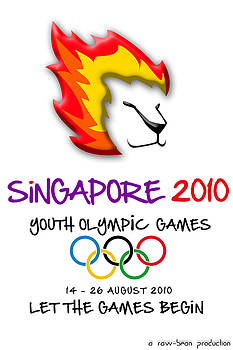 Youth olympic Singapore Poster by Robin Zhuo