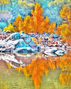 Yuba River Fall Reflection by William Havle