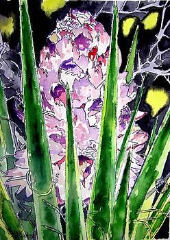 Yucca Flower Plant Southwestern Art by Derek Mccrea