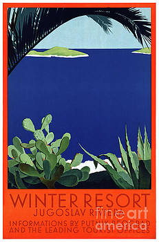 Yugoslavia Putnik Vintage Travel Poster Restored by Carsten Reisinger