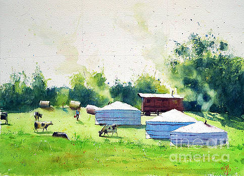 Yurts in Brittany by Andre MEHU