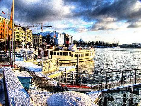 YURY BASHKIN Stockholm Swiss winter by Yury Bashkin