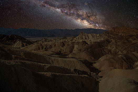 Zabriskie Point with Milky Way by Marius Sipa