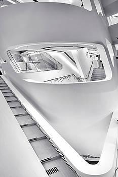 Zaha Hadid Vienna Library Design Interior by Menega Sabidussi