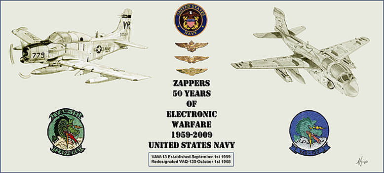 ZAPPERS 50 Years Then and Now with Pilot NFO and Aircrew wings by Nicholas Linehan