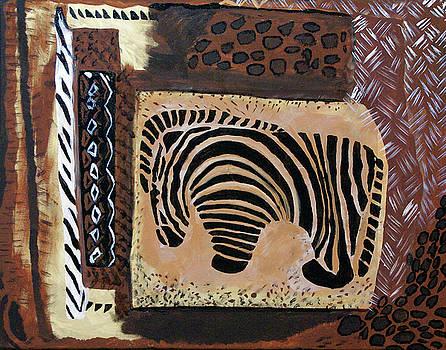 Zebra Abstract by Judy Huck