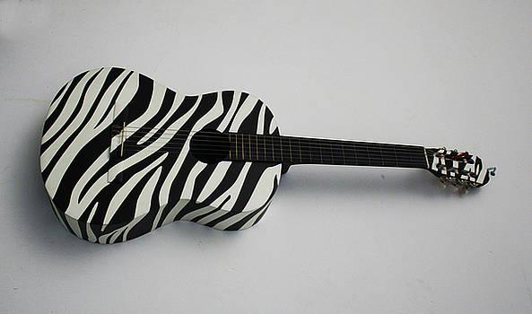 Zebra acoustic guitar by Gerardo De Osio