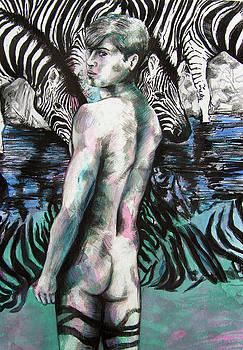 Zebra Boy Looking Back by Rene Capone