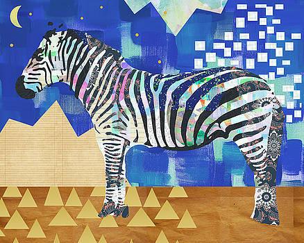 Zebra Collage by Claudia Schoen