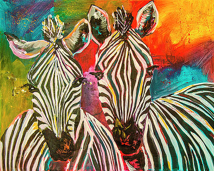Zebra Family by Rina Bhabra