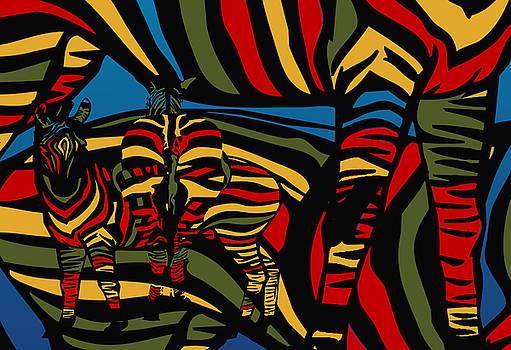 Zebra In The Jungle by Mark Ashkenazi