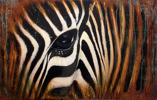Zebra in the mist by Holly Whiting