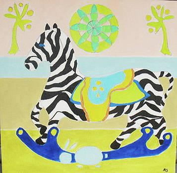 Zebra Rocker by Martin Silverstein