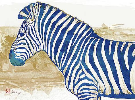 Zebra - stylised pop art poster by Kim Wang