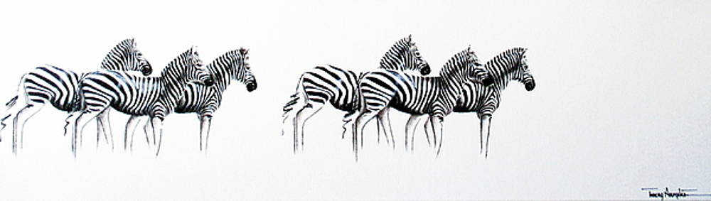 Zebrascape - Original Artwork by Tracey Armstrong