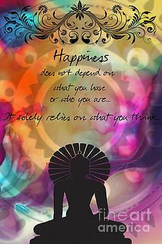 Justyna Jaszke JBJart - Zen Art Inspirational Buddha quotes Happiness