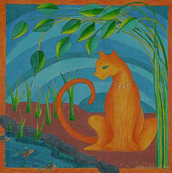 Zen Cat by Jill Kelsey