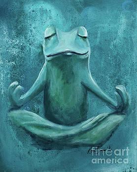 Zen Frog by Rachel Brisbois