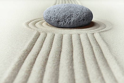 Zen Garden - Concentration Stone by Dirk Ercken