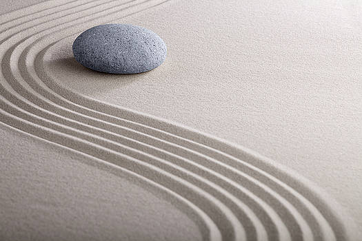 Zen Garden - Meditation And Concentration Stone by Dirk Ercken