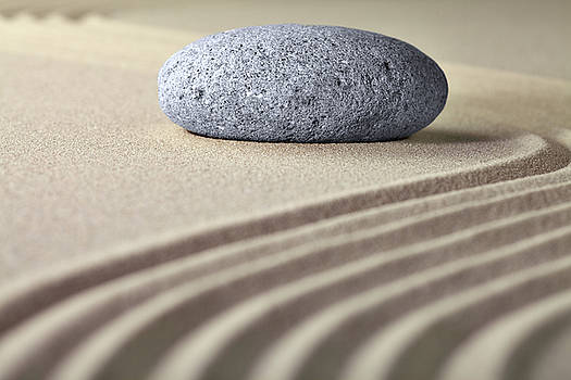 Zen Garden - Sand And Stone by Dirk Ercken