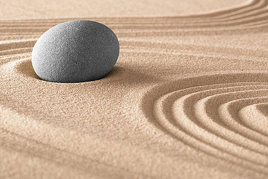 Zen Meditation Stone And Sand by Dirk Ercken