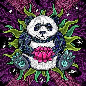 Zen Panda by Julie Oakes