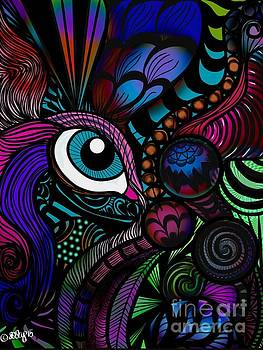 Zentangle Abstract Eye by Aixa Olivo
