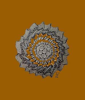 Zentangle Shield  by Joyce Wasser
