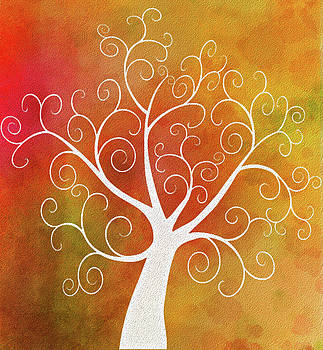 Zentangle Tree Watercolor by Emily Smith