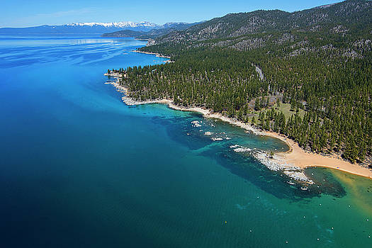 Zephyr Cove to Cave Rock Aerial by Brad Scott