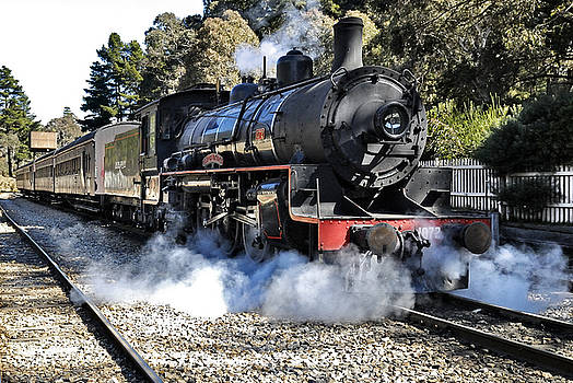 Zig Zag Railway Lithgow New South Wales Australia Steam Engine 1072 by David Iori