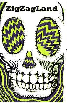 ZigZagLand Zine Cover by John  Stidham