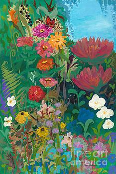 Zinnias Garden by Robin Maria Pedrero