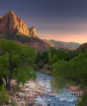 Zion Canyon Sunset by Peter Kennett