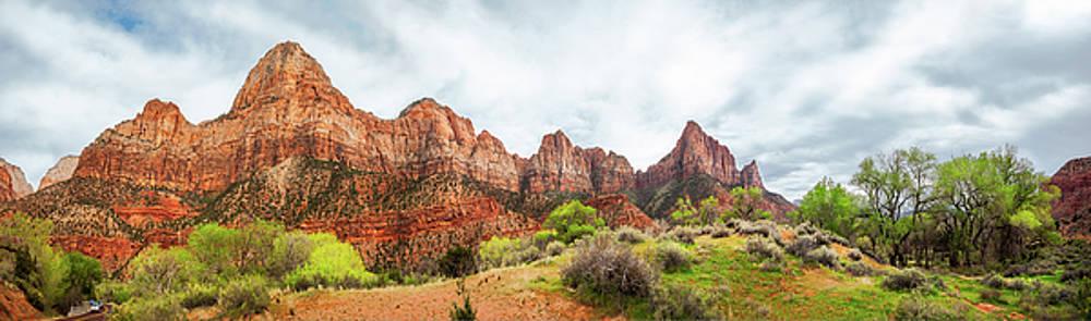 Zion View Panorama by Daniela Constantinescu