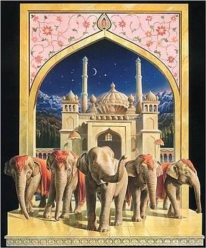 ZooFari Poster The Elephants by Hans Droog