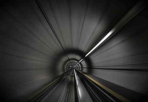 Zooming along in the tunnel of hope by Quality HDR Photography