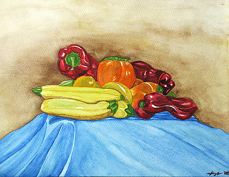 Zucchini and Peppers  by Mic DBernardo