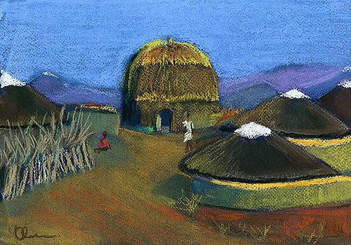 Zulu Huts by Lelia Sorokina