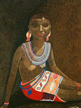Madalena Lobao-Tello - Zulu woman with beads
