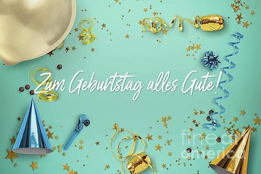 Zum Geburtstag alles Gute Party Scene Layflat by Sharon Mau