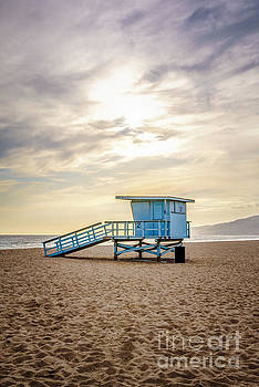 Zuma Beach Lifeguard Tower #2 Malibu Sunset by Paul Velgos
