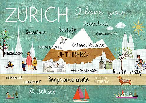 Zurich I love you by Claudia Schoen